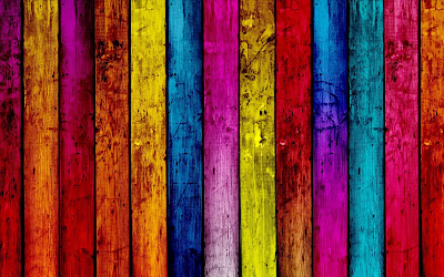 Rainbow Colors Wood Texture HD Desktop Wallpaper