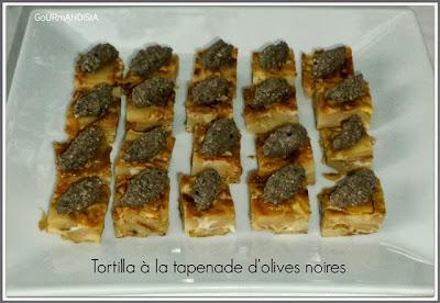 image Toasts de tortilla à la tapenade d'olives noires