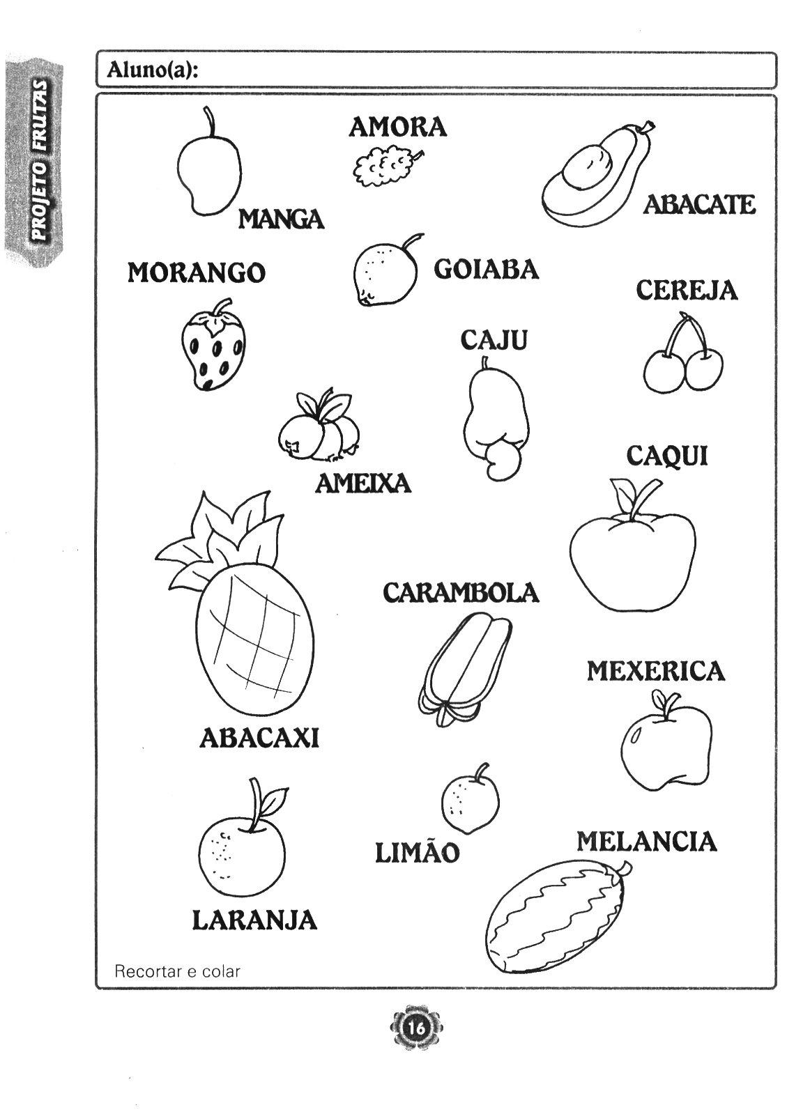 atividades horta pomar jardim educacao infantil:Projeto Adoro frutas para a educação infantil – ESPAÇO EDUCAR