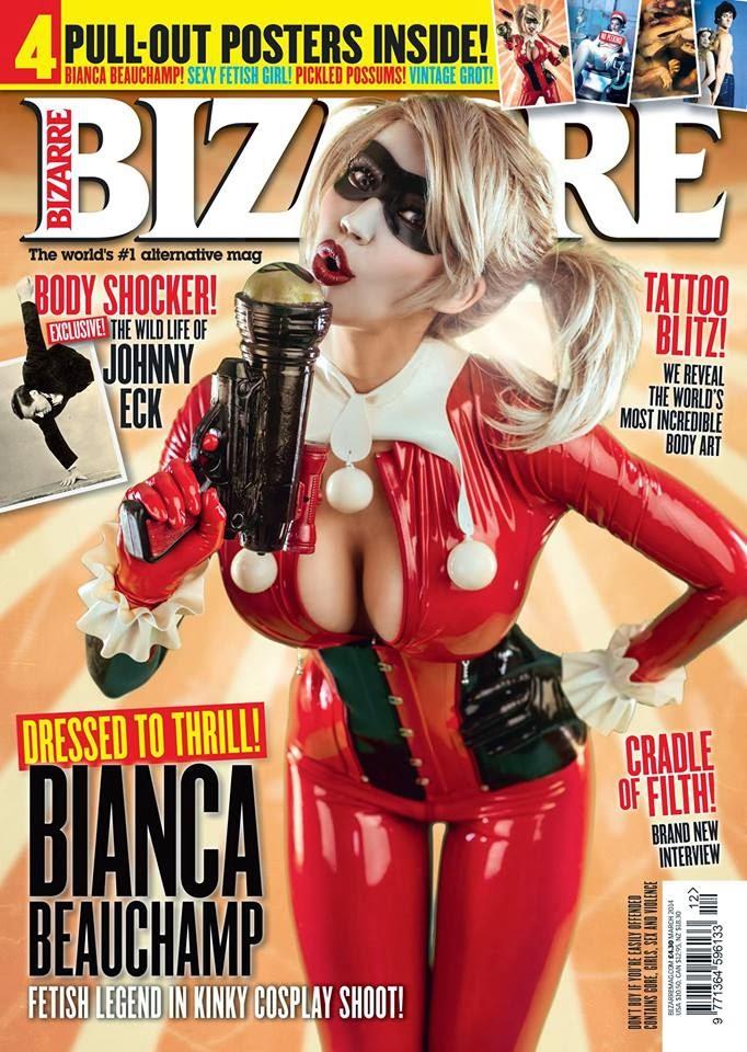 couverture du magazine fetichiste Bizarre avec Bianca Beauchamp