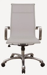 Baez White Mesh Office Chair