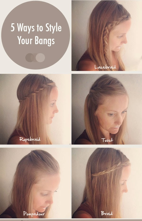 Cute easy ways to style your bangs