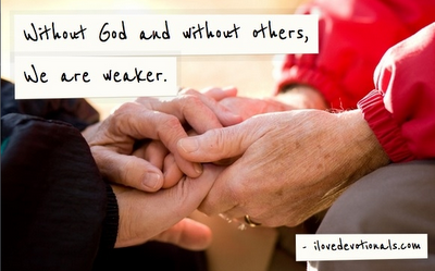 Old couples hands, 2 Corinthians 12:10