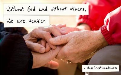 Old couples hands, 2 Corinthians 12:10