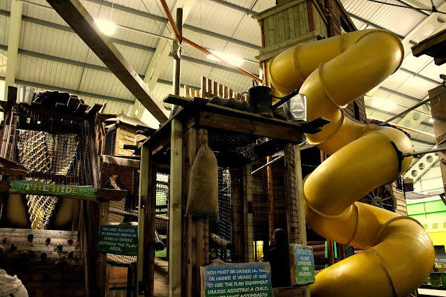 the hide play area in adventure centre at bluestone wales