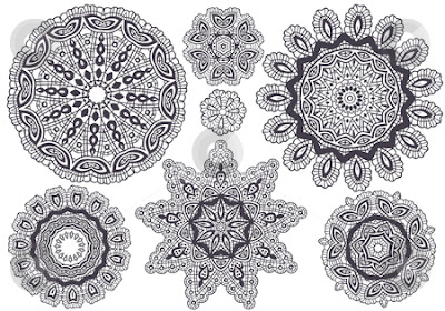 Lace patterns for jewellery design inspiration