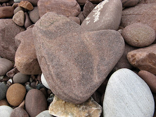 Heart shaped stone at the Bay of Stoer