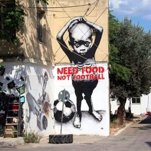 Need Food not Football - Graffiti Art - what is hiphop