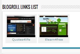 Nouveau widget de Blogger blogroll avec des vignettes d'écran