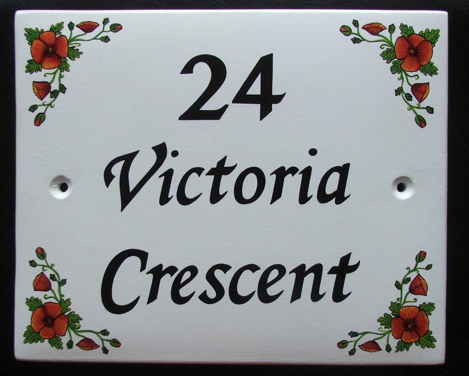Hand painted house signs by ceramic art hand painted ceramic hand painted ceramic house signs number signs address plaques and name plates dailygadgetfo Gallery
