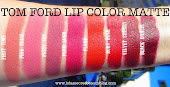 TOM FORD BEAUTY LIP COLOR MATTE SWATCHES