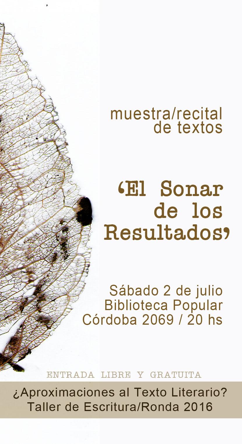 Muestra/Recital de Textos