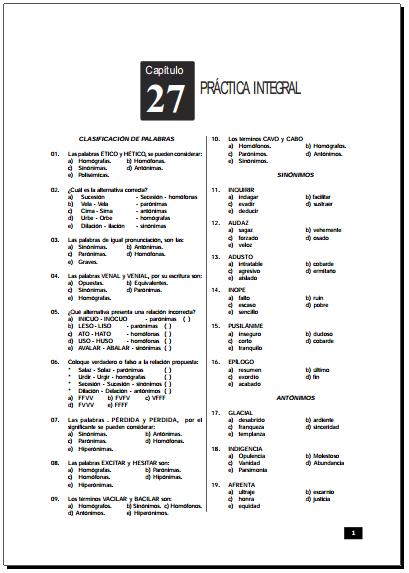 Razonamiento Verbal Ejercicios en PDF   Razonamiento Verbal - photo#24