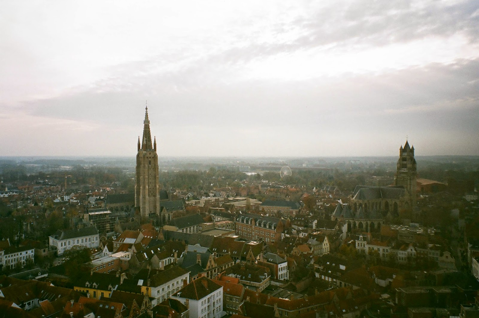Belfry of Bruges tower view