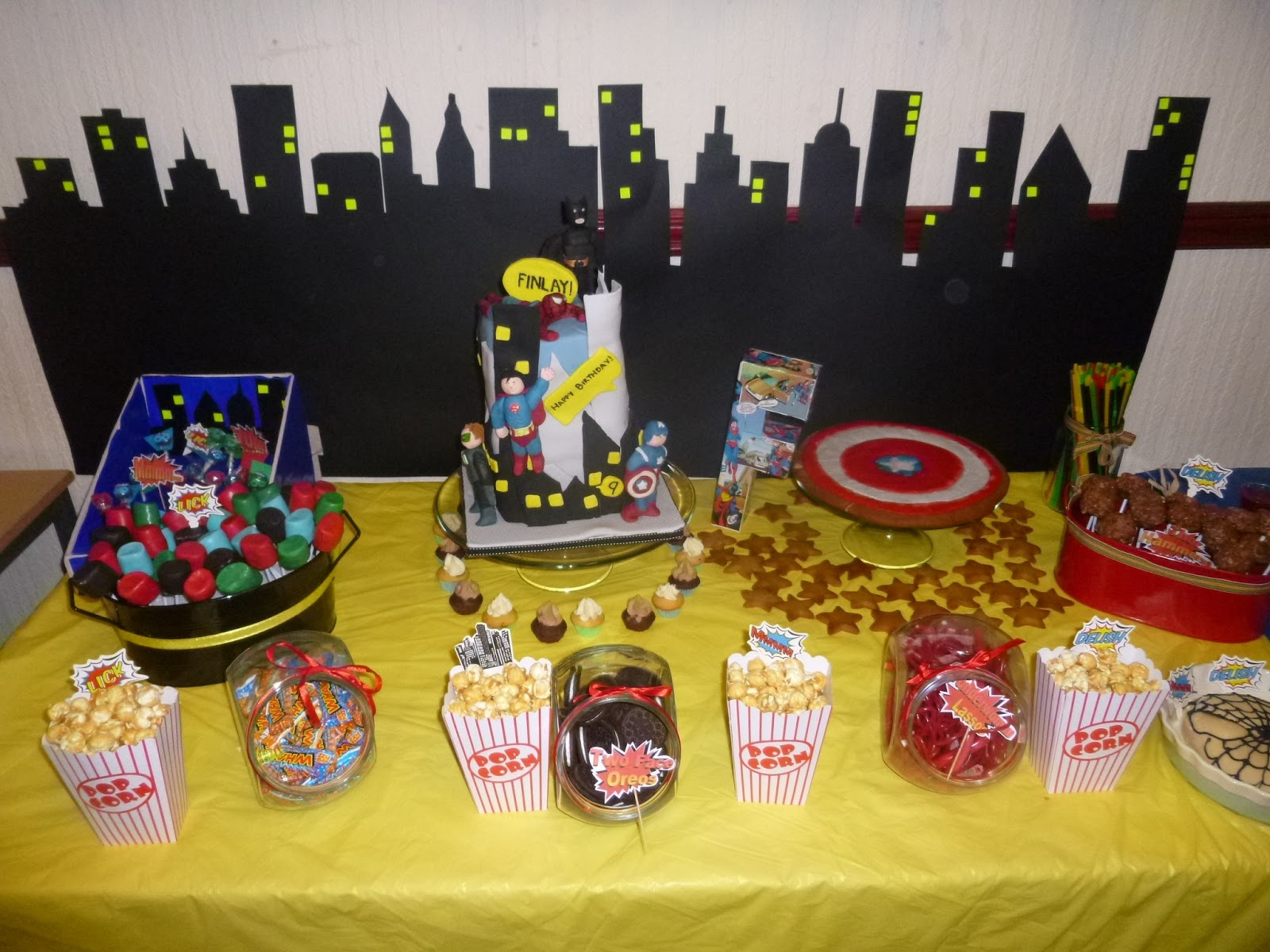 My Guide To Home Made Superhero Party The Food Desserts Table