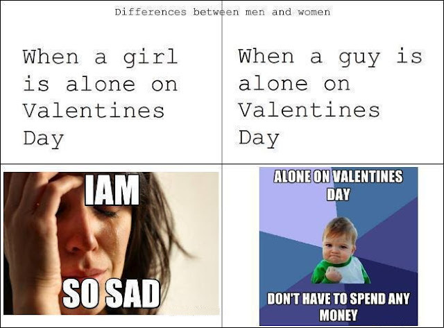 Girls VS Boys on Valentines Day