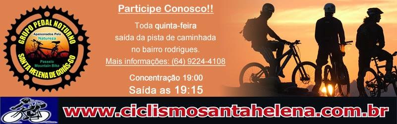 PEDAL NOTURNO TODA QUINTA-FEIRA PARTICIPEM CONOSCO, SAÍDA 19:15 DA PISTA DE CAMINHADA B.RODRIGUES!!