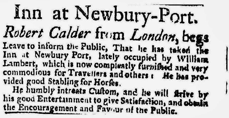 Theraconteuseexpose some old inns of newburyport six months later we find that robert calder pic above from london who writes himself down as late servant to his excellency governor wentworth has stopboris Gallery