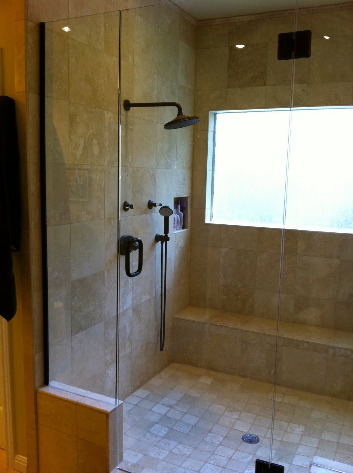 the cul de sac: Welcome to My Home: Master Bath Makeover - Bathroom Shower Head Ideas