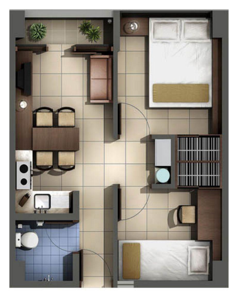contoh sketsa denah type 36 2 kamar terbaru