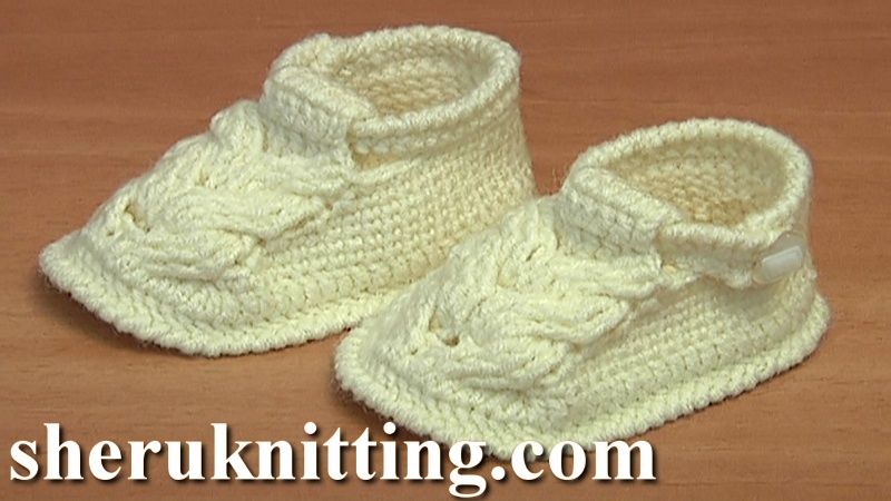 Knit Baby Booties Youtube Ville Du Muy