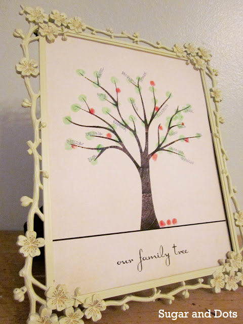 fingerprint family tree {from sugar & dots}
