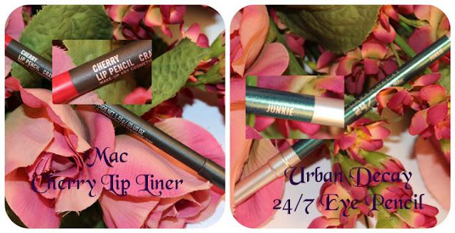 Mac Cherry Lip Pencil UD 24/7 Junkie Eyepencil