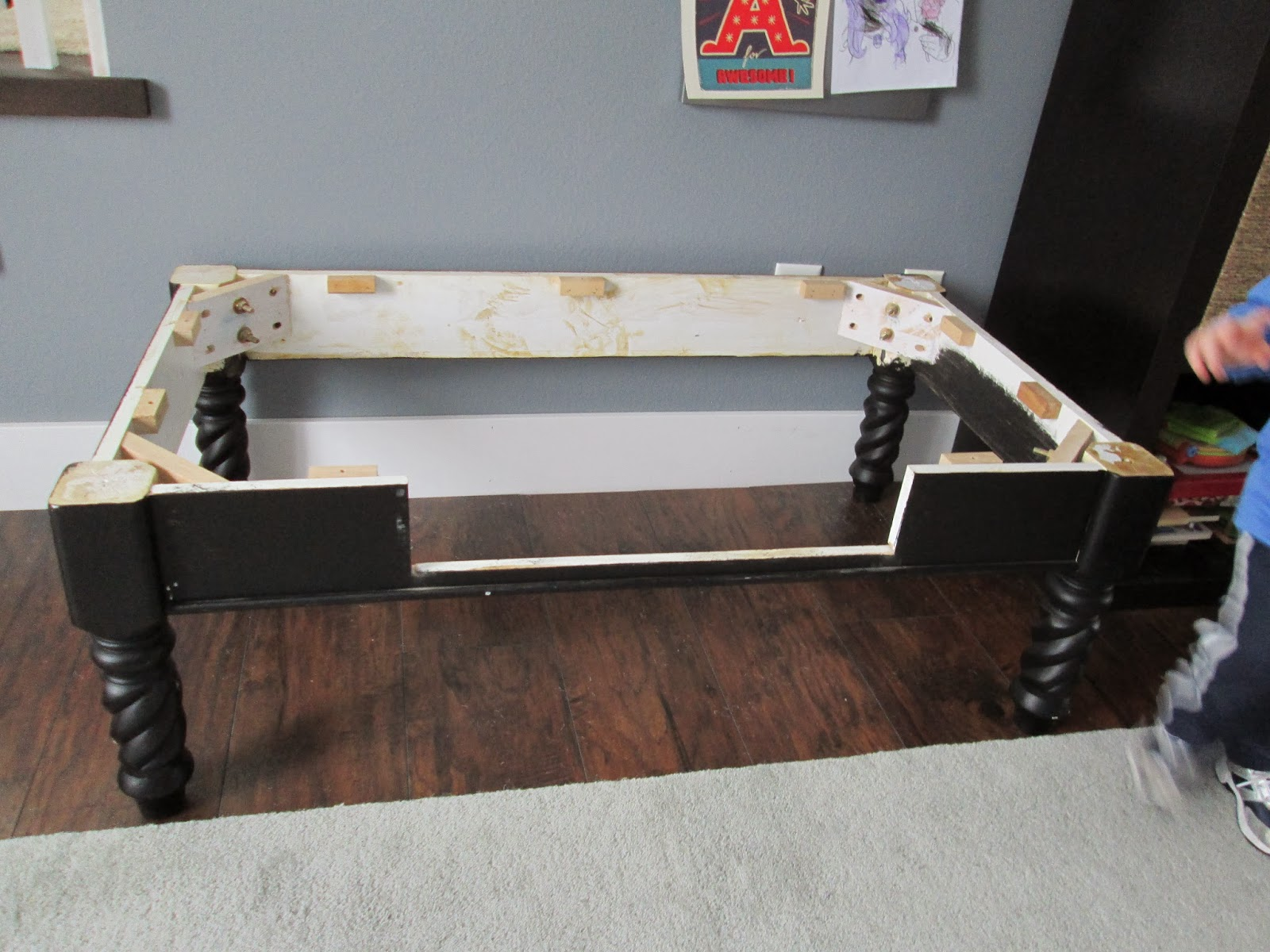 Thecomforts train table old coffee table i popped the top off and it will fit into the space perfectly geotapseo Choice Image