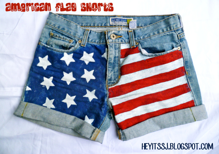 DIY American Flag Shorts by Hey It's SJ
