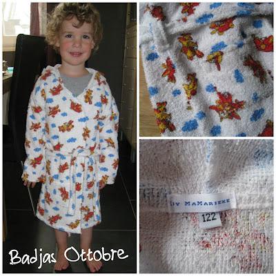 Zelfgemaakte badjas, patroon uit de Ottobre
