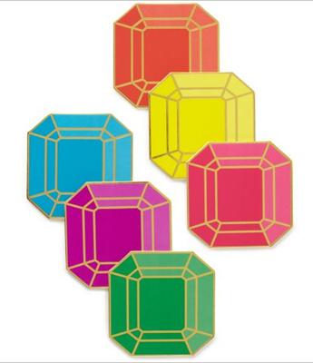 Kate Spade jewel gem coasters