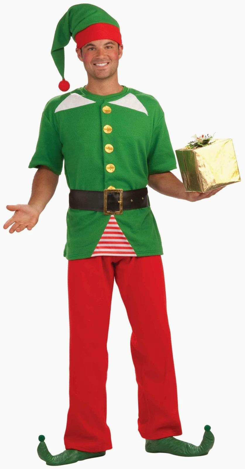 Men's Jolly Elf Adult Costume
