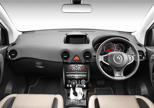 Interior view of Renault Koleos