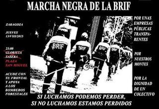 Educadores En Lucha se une a la Marcha Negra de las BRIF