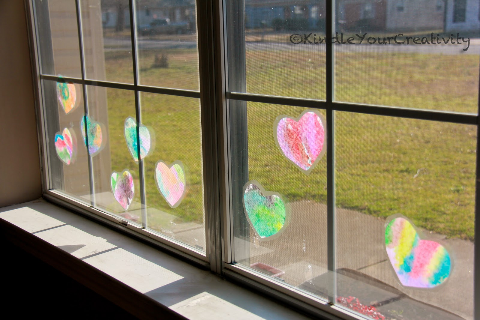 Kindle Your Creativity: Valentine Window Cling Hearts