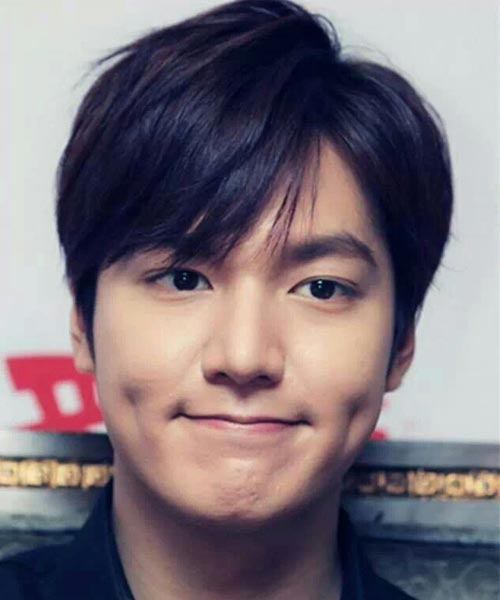 Lee Min Ho cute face with natural hair color