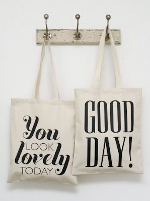 bag, quote, alphabet design