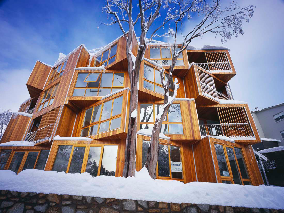 The best hotels in the world huski hotel falls creek for Design hotel australia