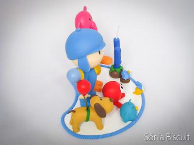 topo de bolo, pocoyo, turma do pocoyo, biscuit