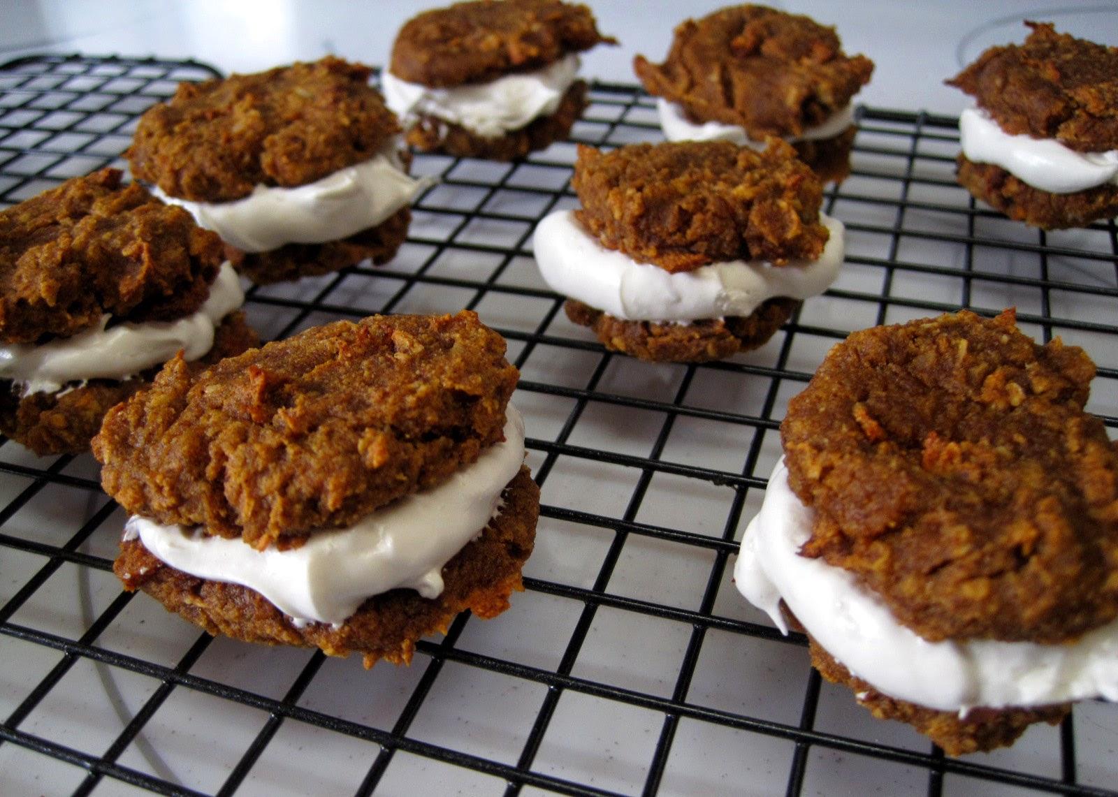 AIP cookies, n'oatmeal creme pies