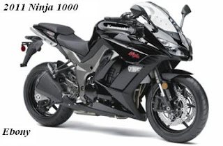 2011 Kawasaki Ninja 1000 black Color