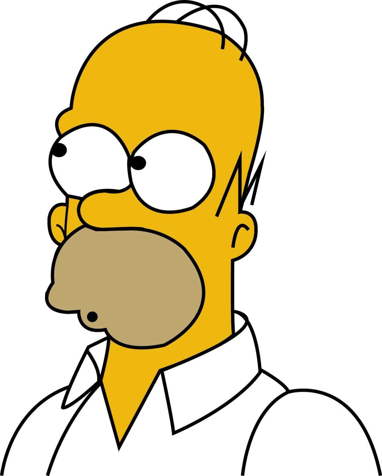 Thiago Rosário - Portfolio: Homer Simpson - Vetorizar personagem