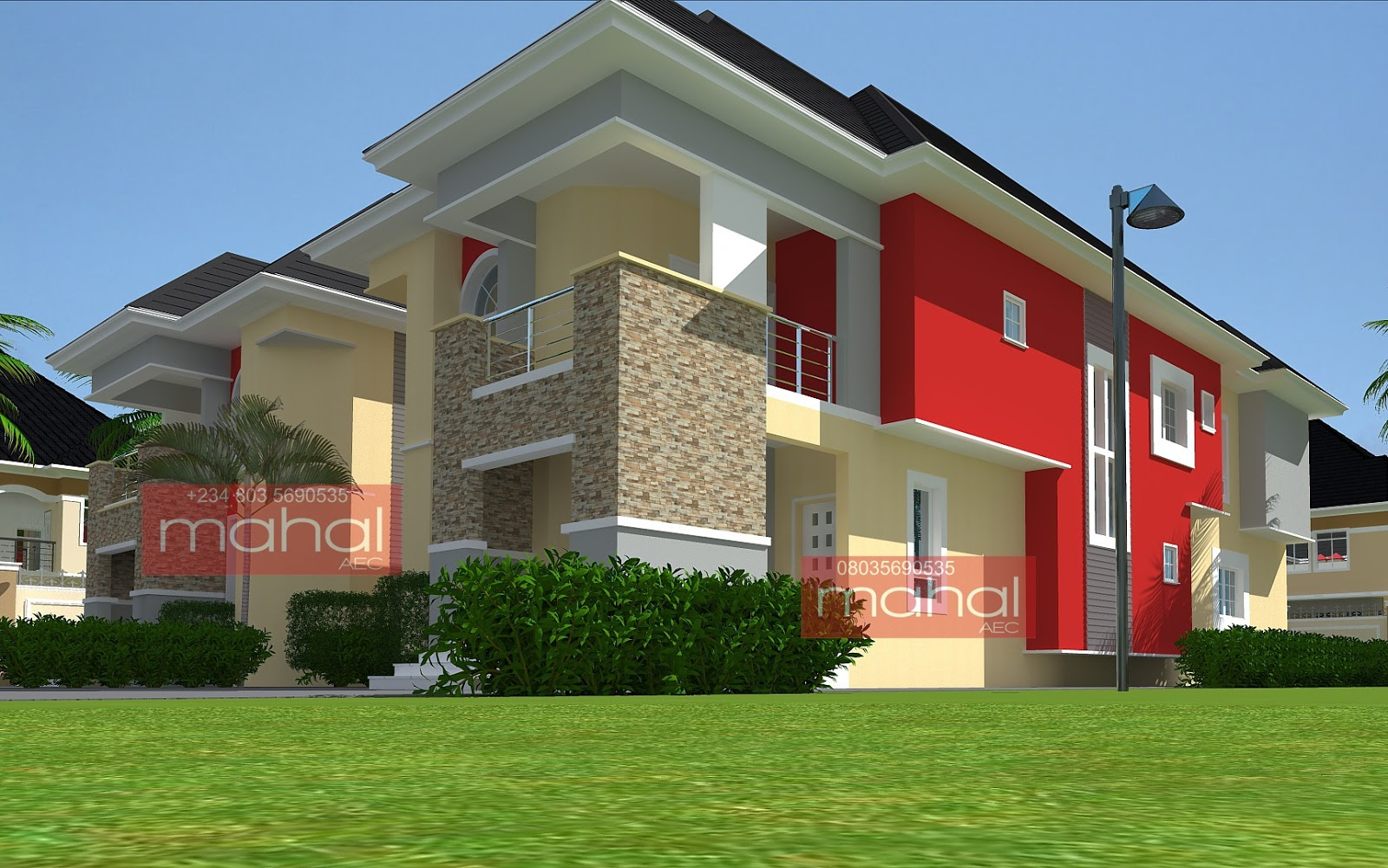 Contemporary nigerian residential architecture ehi house for Nigerian home designs photos