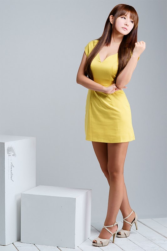 Ryu Ji Hye in Yellow Dress