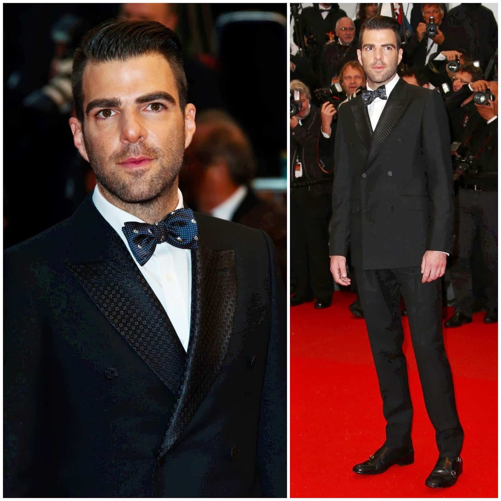 00O00 Menswear Blog: Zachary Quinto in Alexander McQueen - 'All Is Lost' red carpet premiere, 66th Cannes Film Festival 2013