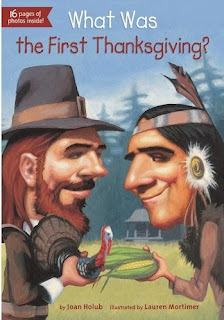 http://www.amazon.com/What-First-Thanksgiving-Joan-Holub/dp/0448464632/ref=sr_1_1?s=books&ie=UTF8&qid=1373986200&sr=1-1&keywords=what+was+the+first+thanksgiving
