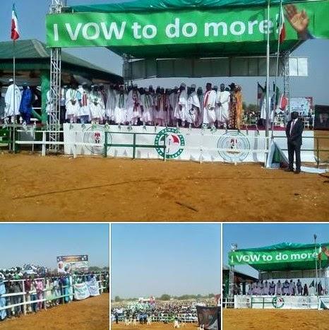 News: Jonathan campaigns inside Half-Empty stadium in Sokoto