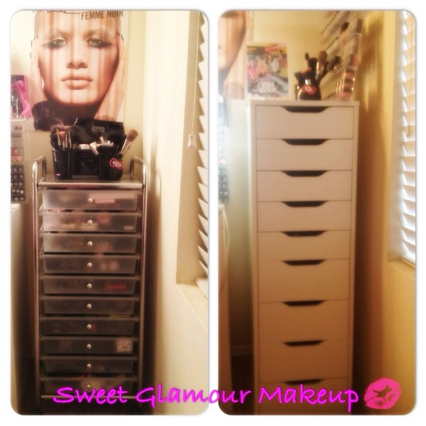 Sweet Glamour Makeup Makeup Storage Ikea Alex Drawer Unit