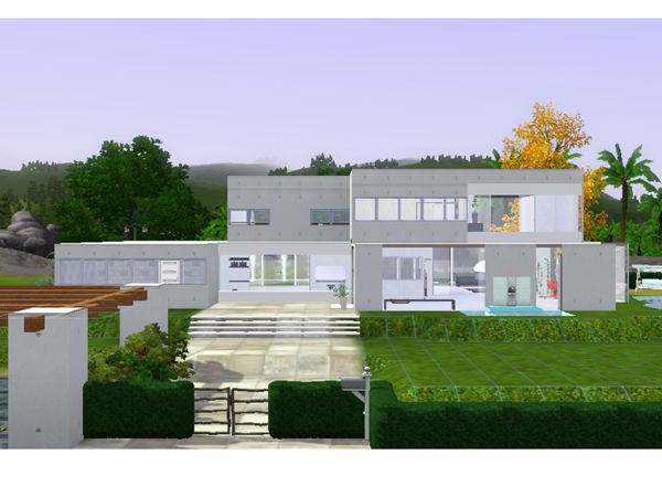 Koalafolio Sims3 House LIVING DESIGN MODERN SEASIDE
