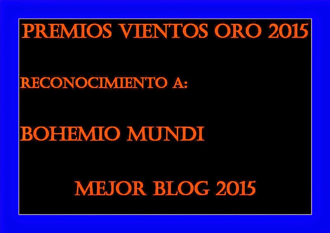 Gracias a Nico Writer por premiar a Bohemio Mundi